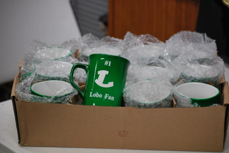 1st order of mugs ready for delivery - Thanks RR you truly are Lobos #1 Fan!
